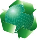 Recycleglobe201007 Stock Photos