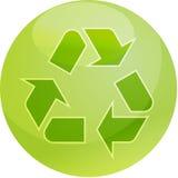 Recyclerend ecosymbool Royalty-vrije Stock Afbeeldingen
