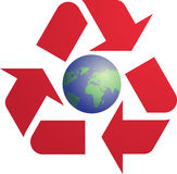 Recyclerend ecosymbool Royalty-vrije Stock Afbeelding