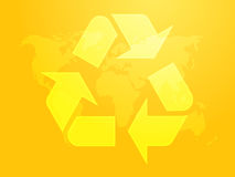 Recyclerend ecosymbool Stock Fotografie