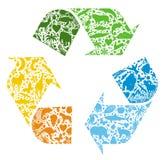 Recyclerend embleem Stock Foto
