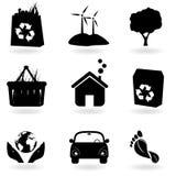 Recyclerend en schoon milieu Stock Foto
