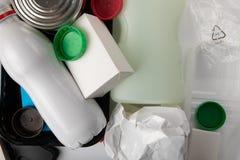 Recyclerend medisch afval stock afbeeldingen