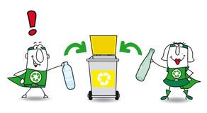 Recyclerend Plastiek stock illustratie