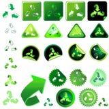 Recyclerend symbool Royalty-vrije Stock Foto