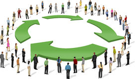 Recyclerend symbool Stock Fotografie