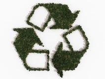 Recyclerend symbool dat uit diverse bomen wordt samengesteld Stock Foto