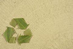 Recyclerend symbool dat van bladeren wordt gemaakt Stock Afbeelding