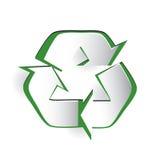 Recyclerend Symbool snijd Document Ontwerp Royalty-vrije Stock Afbeeldingen