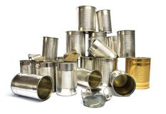 Recyclerend tin stock afbeelding
