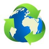 Recyclerende Aarde Royalty-vrije Stock Afbeeldingen