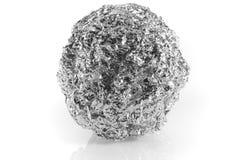 Recyclerende aluminiumbal Royalty-vrije Stock Afbeeldingen