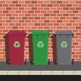 Recyclerende Bakken vector illustratie