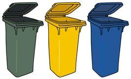 Recyclerende bakken stock illustratie