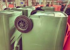 Recyclerende bakken, Openbaar afval Royalty-vrije Stock Foto's