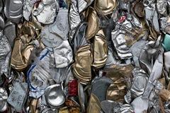 Recyclerende blikken Stock Afbeeldingen