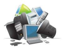 Recyclerende computers royalty-vrije illustratie