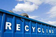 Recyclerende container Royalty-vrije Stock Afbeelding