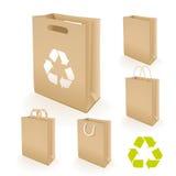 Recyclerende document zak Stock Afbeeldingen