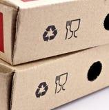 Recyclerende en breekbare symbolen Stock Fotografie