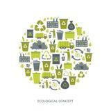 Recyclerende huisvuilpictogrammen Royalty-vrije Stock Foto