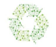 Recyclerende pictogrammen Stock Afbeeldingen