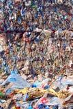 Recyclerende Plastiek en flessen Royalty-vrije Stock Afbeelding