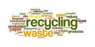 Recyclerende tekstwolken Stock Afbeelding