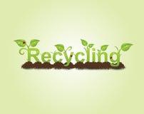 Recyclerende titel vector illustratie
