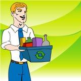 Recyclerende Zakenman Stock Fotografie