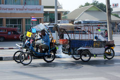 Recyclertransporter Royaltyfri Foto