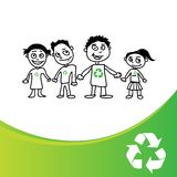 Recycles kids Royalty Free Stock Photography