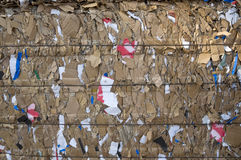 Recycling. Texture of Paper and cardboard Recycling Stock Photos
