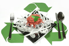 Recycling. Recycle consistently and habitually: how to eat Royalty Free Stock Photos