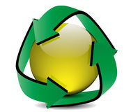 Recycling. Vector recycling sign is  on a white background Stock Photography