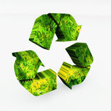 Recycling 3d arrows. 3d illustration of recycling arrows symbol Royalty Free Stock Photography