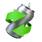 Recycling aluminum Royalty Free Stock Image