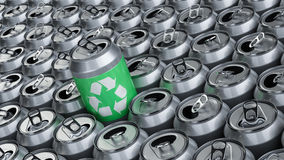 Recycling aluminum cans Stock Photos