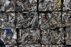 Recycling aluminum cubes Stock Photos