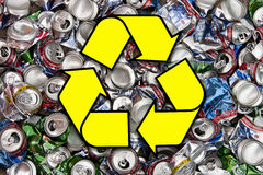 Recycling Aluminum Drinks Cans Stock Photos