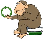 Recycling Ape Stock Photo