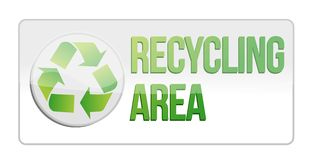 Recycling area sign illustration design Royalty Free Stock Photography