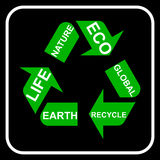 Recycling. Arrow symbol, , illustration Stock Image