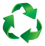 Recycling arrows. Triangular recycling symbol. Vector recycle symbol Royalty Free Stock Images