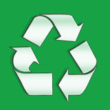 Recycling arrows. Green arrows indicating a recyclable product Stock Photos