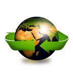 Recycling arrows and earth Royalty Free Stock Image