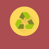 Recycling arrows flat design vector icon Stock Image