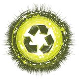 Recycling background. Grunge style recycling backgroun vector Stock Image