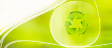 Recycling background Stock Photography