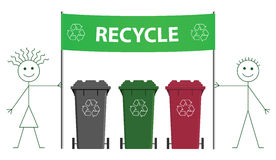 Recycling banner Royalty Free Stock Images